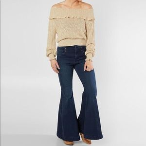 FREE PEOPLE Crazy In Love Ruffle Sweater (Large)
